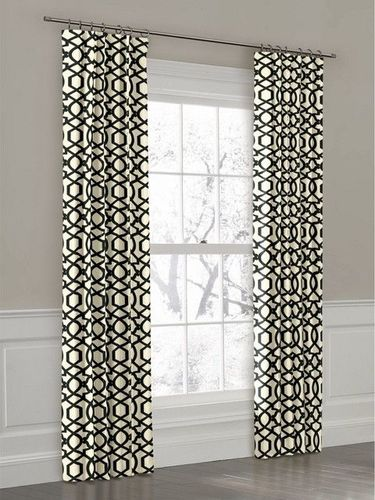 черно-белые шторы в интерьере