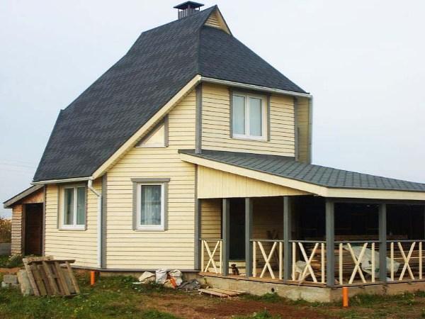 Готовый вариант каркасного дома своими руками