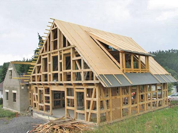 Общий вид структуры каркасного дома