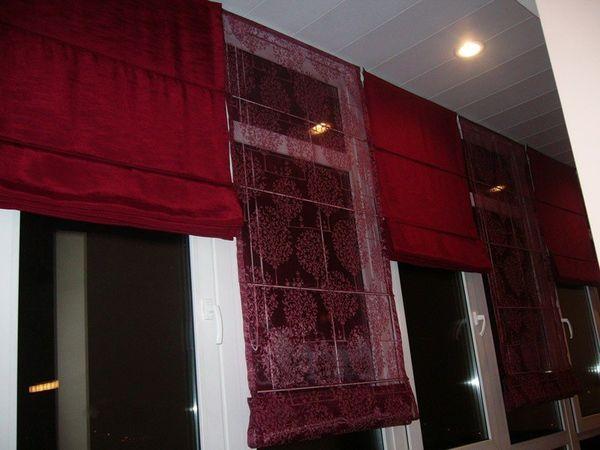 римские шторы фото