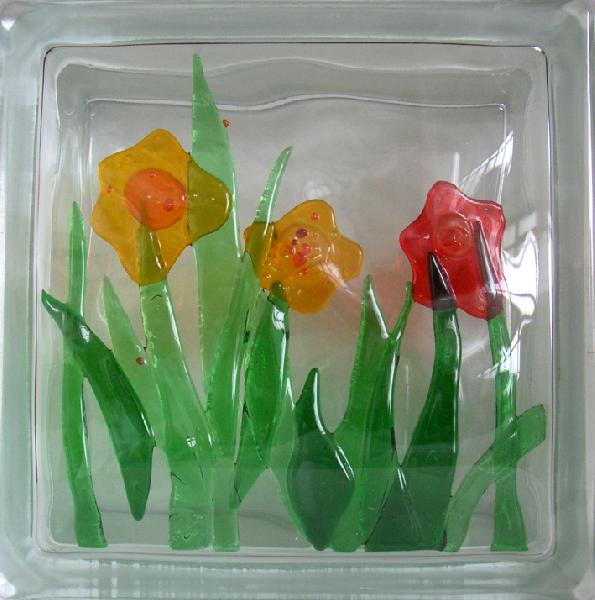 vitrazhnie dekorativnie steklobloki cvetnie i s ukrasheniem vnutri 40