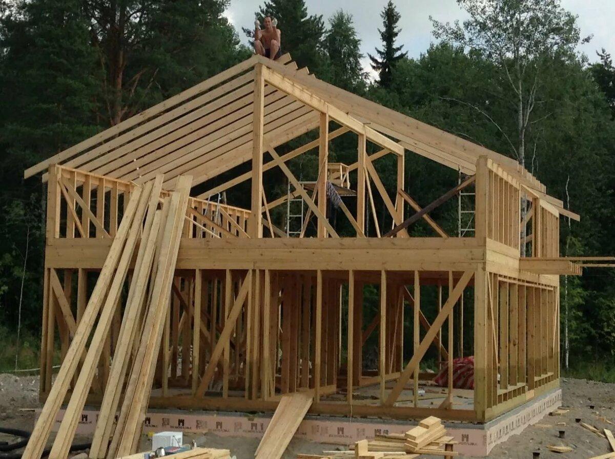Картинки как построить каркасный дом