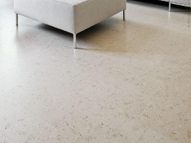 Белый пробковый пол