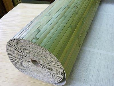 зеленые бамбуковые обои в рулоне