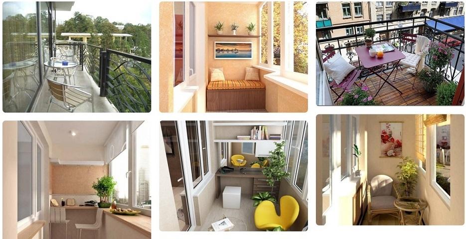 стили ремонта на балконе