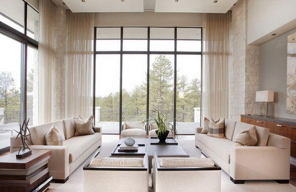 современные шторы в зал